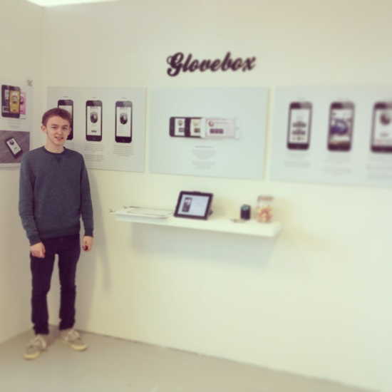 Me next to my display after it was completed on 6th June.
