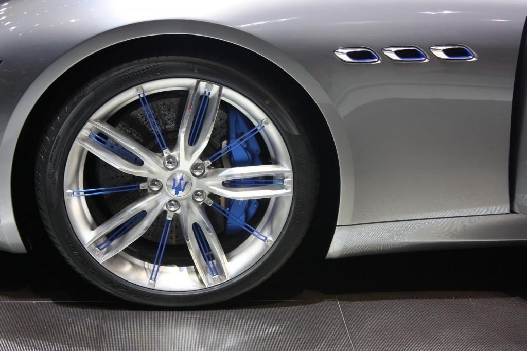 Maserati Alfieri's delicate blue detailing
