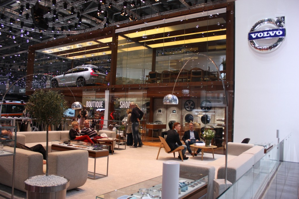 Volvo's extremely Swedish lounge area!