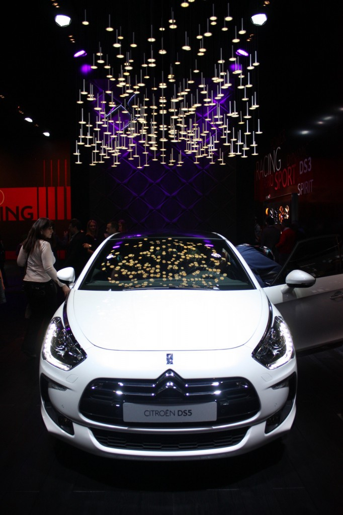 Clever lighting installation was complementary of Citroen's upmarket DS range.