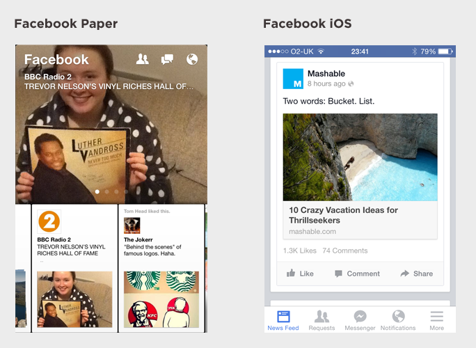 News Feed comparison